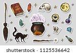 vintage halloween elements... | Shutterstock .eps vector #1125536642