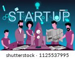 the launch of a new business  ... | Shutterstock .eps vector #1125537995