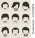 mustache  beard and hair style... | Shutterstock .eps vector #112553876