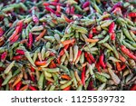 many chilies sold in the...   Shutterstock . vector #1125539732