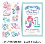 birthday party invitation card... | Shutterstock .eps vector #1125546602