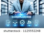 compliance rules law regulation ... | Shutterstock . vector #1125552248