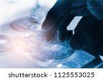 modern way of exchange. bitcoin ... | Shutterstock . vector #1125553025