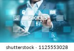 skill knowledge ability... | Shutterstock . vector #1125553028