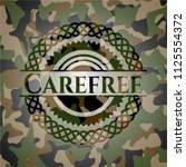 carefree on camouflage texture | Shutterstock .eps vector #1125554372