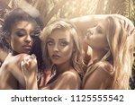 beauty portrait of three... | Shutterstock . vector #1125555542