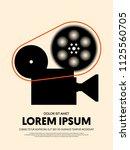 movie and film modern retro... | Shutterstock .eps vector #1125560705