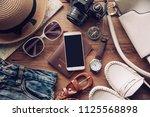 travel accessories costumes.... | Shutterstock . vector #1125568898