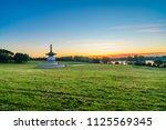 peace pagoda at willen park in... | Shutterstock . vector #1125569345