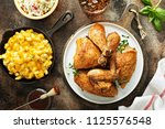 grilled or smoked chicken... | Shutterstock . vector #1125576548