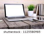 work place concept   mock up...   Shutterstock . vector #1125580985