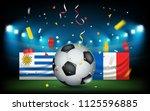 football stadium with the ball... | Shutterstock .eps vector #1125596885