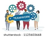 illustration of character with... | Shutterstock .eps vector #1125603668