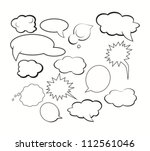 chat and thought illustration... | Shutterstock .eps vector #112561046