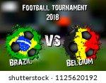 soccer game brazil vs belgium.... | Shutterstock .eps vector #1125620192