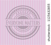 everyone matters badge with... | Shutterstock .eps vector #1125632855