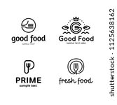 good food logo design template... | Shutterstock .eps vector #1125638162