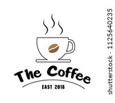 the coffee east 2018 cup of... | Shutterstock .eps vector #1125640235