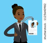 african american businesswoman... | Shutterstock .eps vector #1125640982