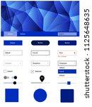 dark blue vector web ui kit in...