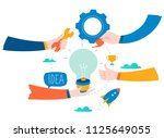 idea  thinking  content... | Shutterstock .eps vector #1125649055