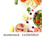 top view of mixed vegetables...   Shutterstock . vector #1125653015