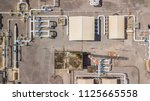 aerial top view natural gas... | Shutterstock . vector #1125665558