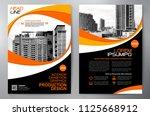 business brochure. flyer design.... | Shutterstock .eps vector #1125668912