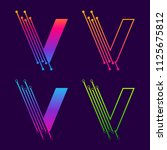 letter v colorful logotype... | Shutterstock .eps vector #1125675812