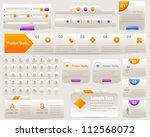 web elements vector design set | Shutterstock .eps vector #112568072
