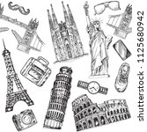 hand drawn sketch illustration... | Shutterstock .eps vector #1125680942