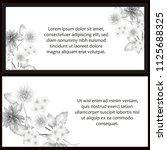 vintage delicate invitation...   Shutterstock .eps vector #1125688325