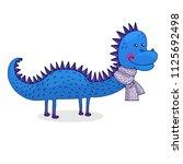 vector illustration of cartoon... | Shutterstock .eps vector #1125692498