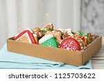 box with tasty homemade...   Shutterstock . vector #1125703622