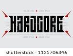 hardcore   music poster. hard... | Shutterstock .eps vector #1125706346