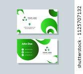 modern business card template... | Shutterstock .eps vector #1125707132
