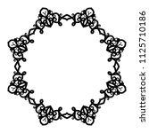 decorative frame.vector... | Shutterstock .eps vector #1125710186