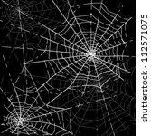 halloween spiders web | Shutterstock .eps vector #112571075