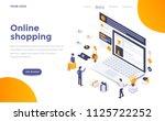 modern flat design isometric... | Shutterstock .eps vector #1125722252