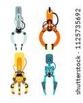 robot industrial claws. machine ...   Shutterstock .eps vector #1125735692
