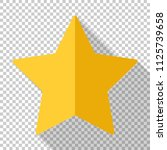 gold star icon in flat style... | Shutterstock .eps vector #1125739658