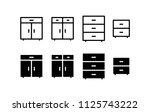 cupboard icon design vector...   Shutterstock .eps vector #1125743222