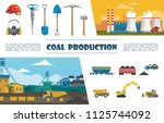 flat mining industry elements... | Shutterstock .eps vector #1125744092