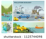 flat environment pollution... | Shutterstock .eps vector #1125744098