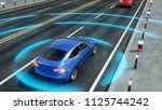 autonomous self driving... | Shutterstock . vector #1125744242
