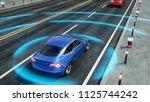 autonomous self driving...   Shutterstock . vector #1125744242