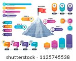 steps to success infographics.... | Shutterstock .eps vector #1125745538