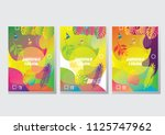 artistic summer cards with... | Shutterstock .eps vector #1125747962