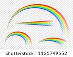 transparent abstract rainbow... | Shutterstock .eps vector #1125749552