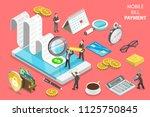 flat isometric vector concept... | Shutterstock .eps vector #1125750845